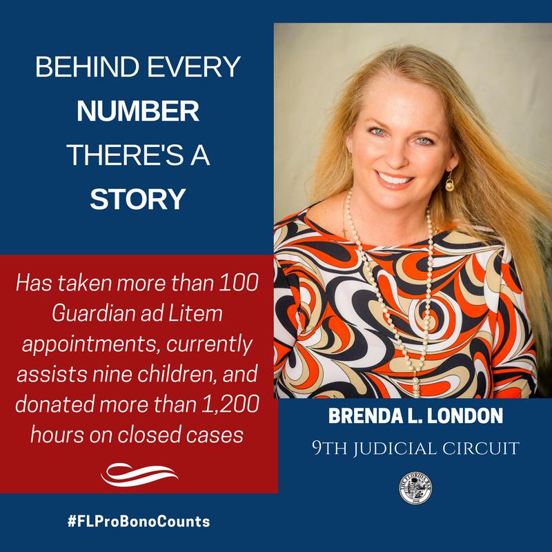 Brenda London, 2017 Florida Bar President's Pro Bono Service Award Winner
